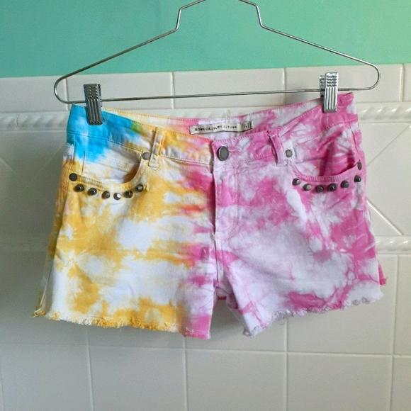 Tie Dye Studded Summer Shorts